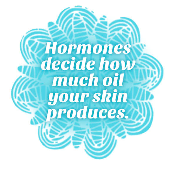 Hormones decide how much oil your skin produces