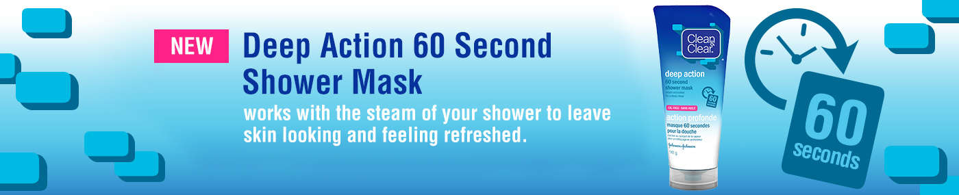 Deep action 60 second shower mask