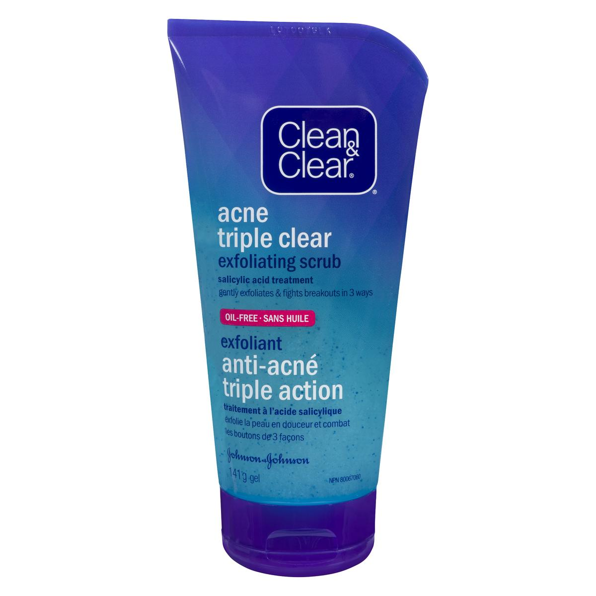 clean and clear acne exfoliating scrub tube