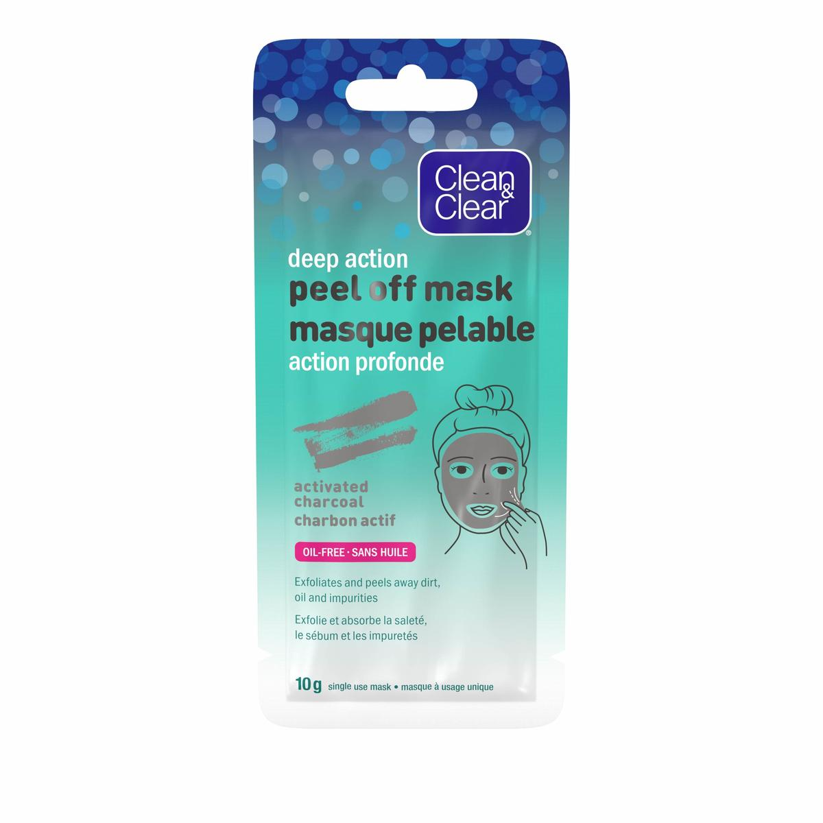 Clean and Clear peel off mask with activated charcoal pack
