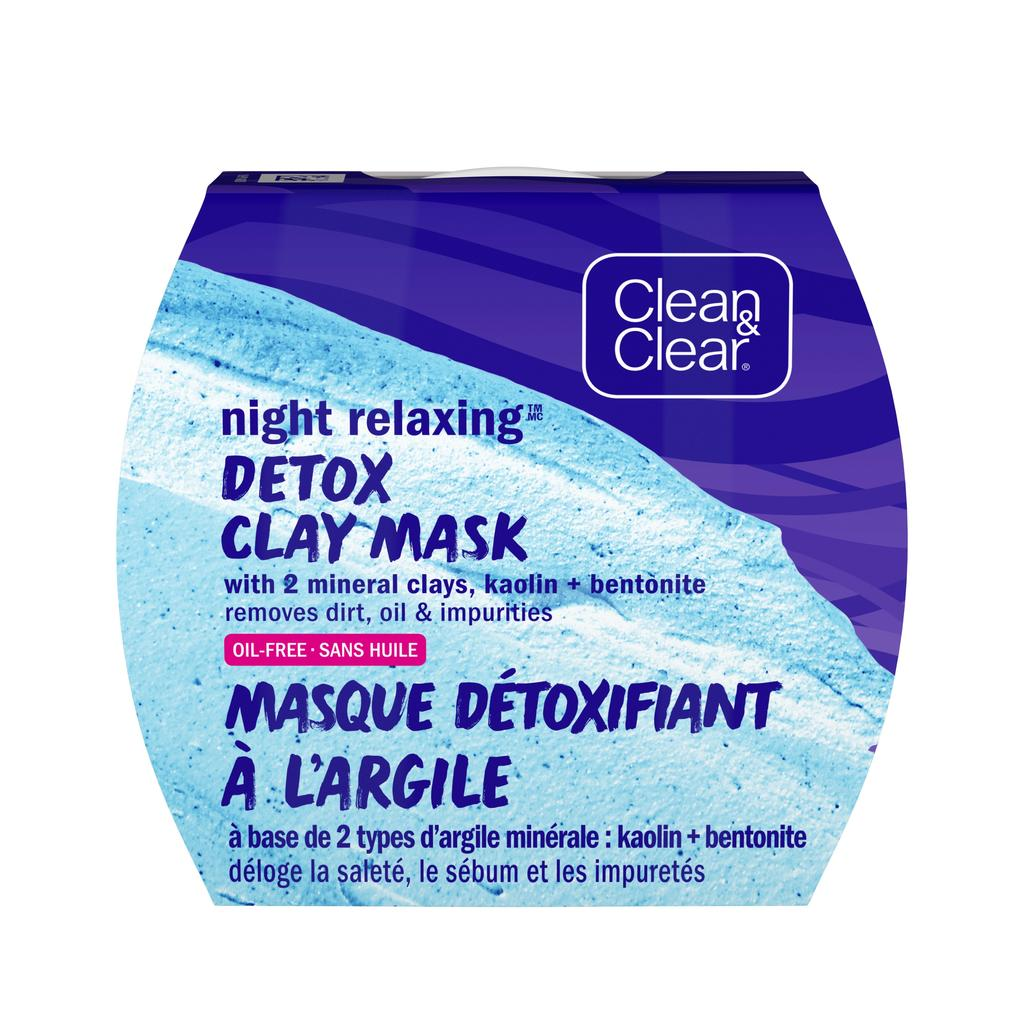 Clean and Clear night detox clay mask pack