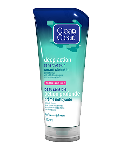 CLEAN & CLEAR® Deep Action Cream Cleanser for Sensitive Skin