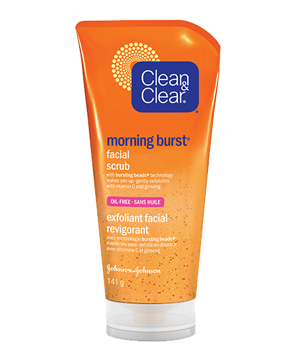 Burst facial scrub