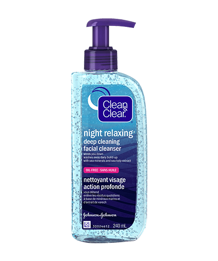 CLEAN & CLEAR NIGHT RELAXING® Deep Cleaning Face Wash