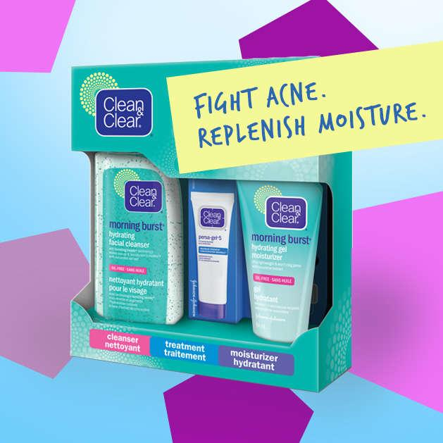 box of clean and clear acne products